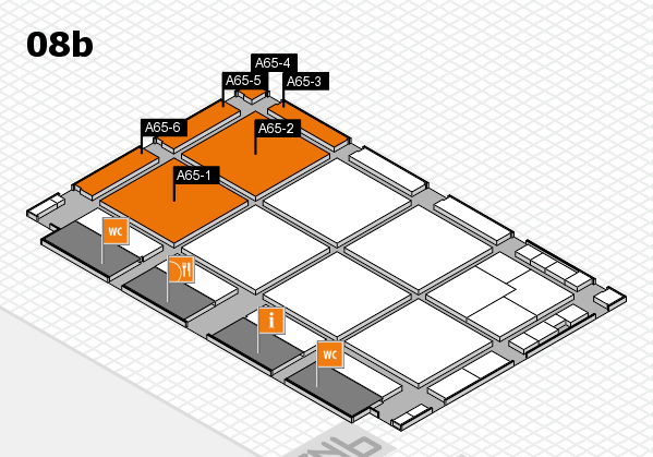 drupa 2016 hall map (Hall 8b): stand A65-1, stand A65-6