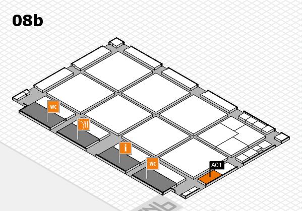 drupa 2016 hall map (Hall 8b): stand A01