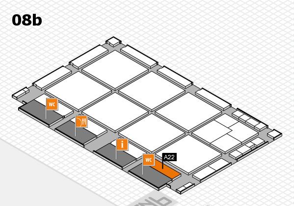 drupa 2016 hall map (Hall 8b): stand A22
