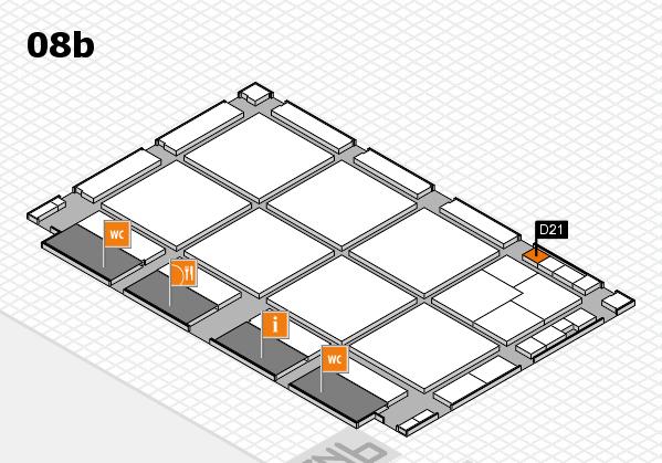drupa 2016 Hallenplan (Halle 8b): Stand D21