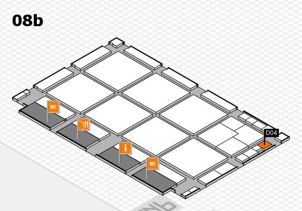 drupa 2016 hall map (Hall 8b): stand D04