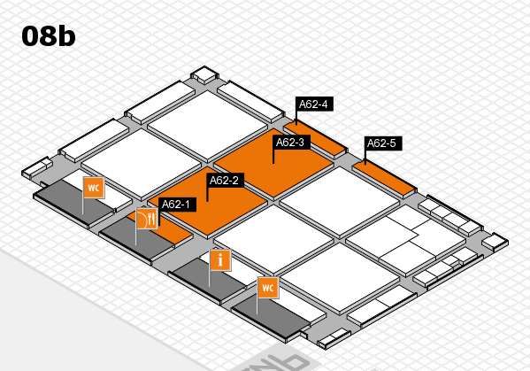 drupa 2016 Hallenplan (Halle 8b): Stand A62-1, Stand A62-5