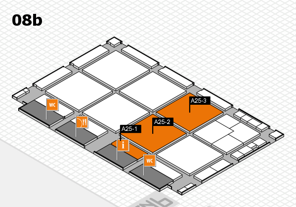drupa 2016 hall map (Hall 8b): stand A25-1, stand A25-3
