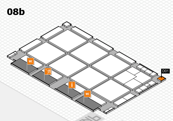 drupa 2016 hall map (Hall 8b): stand D01