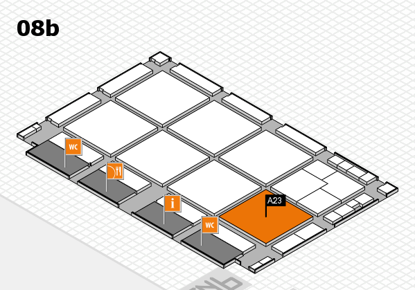 drupa 2016 Hallenplan (Halle 8b): Stand A23