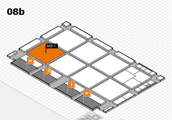 drupa 2016 hall map (Hall 8b): stand A65-1