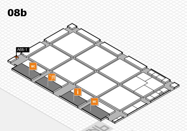 drupa 2016 hall map (Hall 8b): stand A68-1