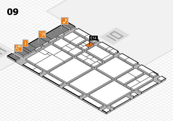 drupa 2016 hall map (Hall 9): stand E14