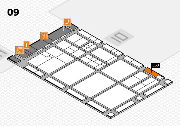 drupa 2016 hall map (Hall 9): stand E60