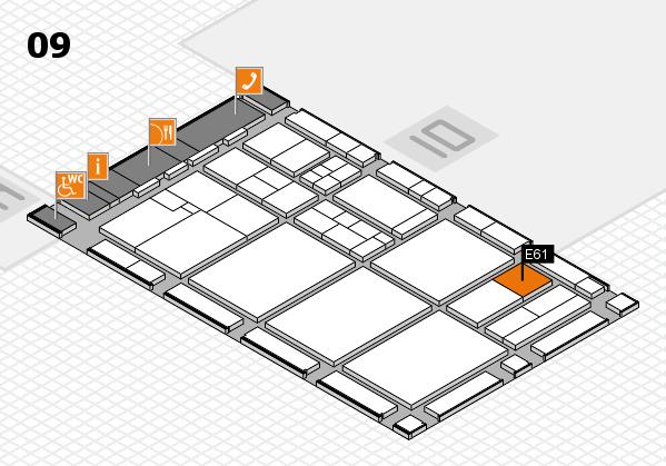 drupa 2016 hall map (Hall 9): stand E61