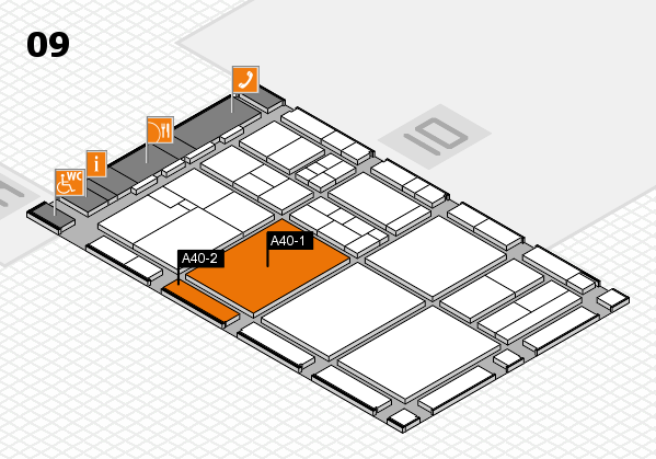 drupa 2016 hall map (Hall 9): stand A40-1, stand A40-2