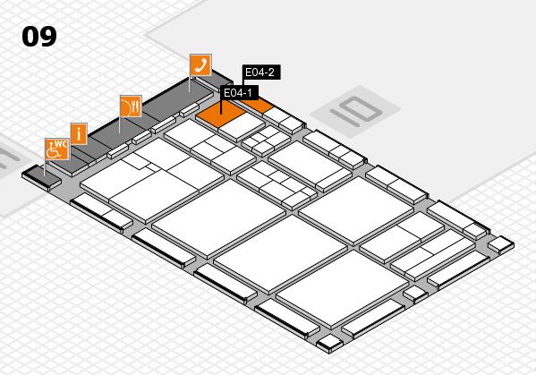 drupa 2016 hall map (Hall 9): stand E04-1, stand E04-2