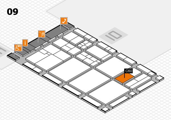 drupa 2016 hall map (Hall 9): stand C60