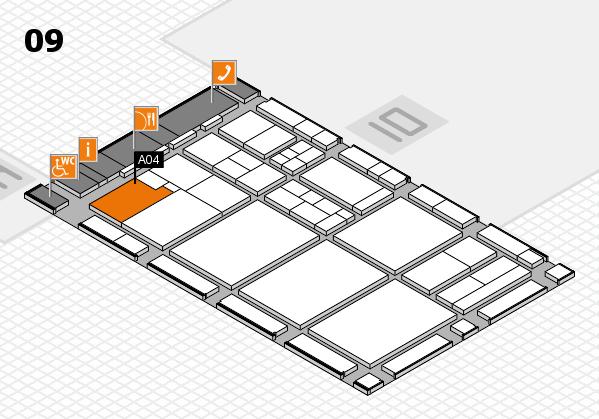 drupa 2016 hall map (Hall 9): stand A04