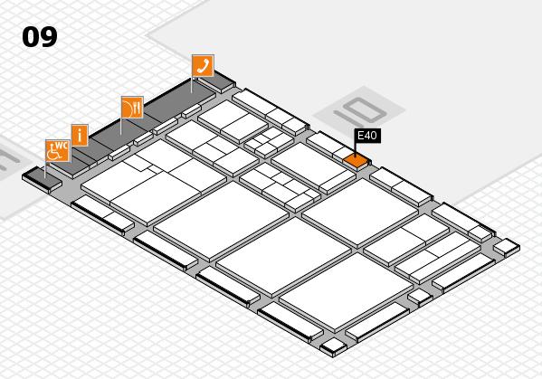 drupa 2016 hall map (Hall 9): stand E40
