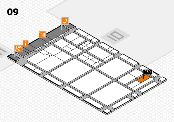 drupa 2016 hall map (Hall 9): stand E69