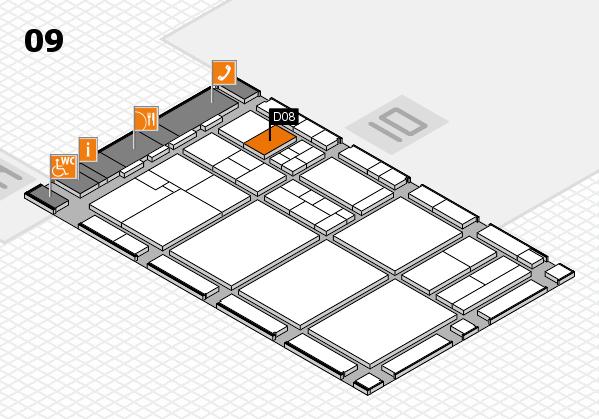 drupa 2016 hall map (Hall 9): stand D08