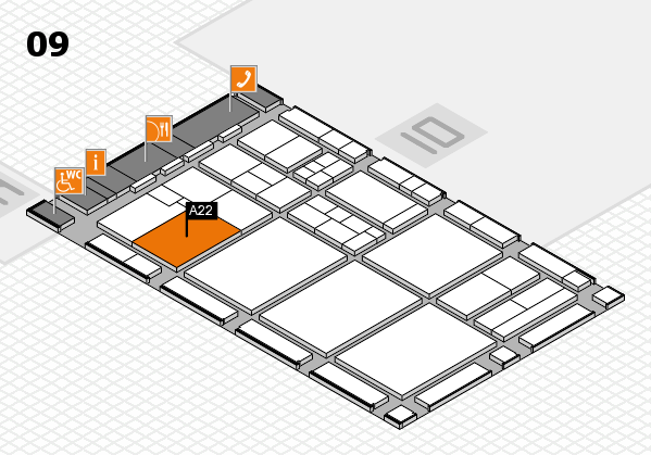 drupa 2016 hall map (Hall 9): stand A22