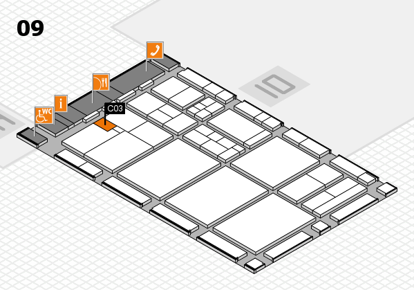 drupa 2016 hall map (Hall 9): stand C03