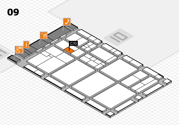 drupa 2016 hall map (Hall 9): stand C10
