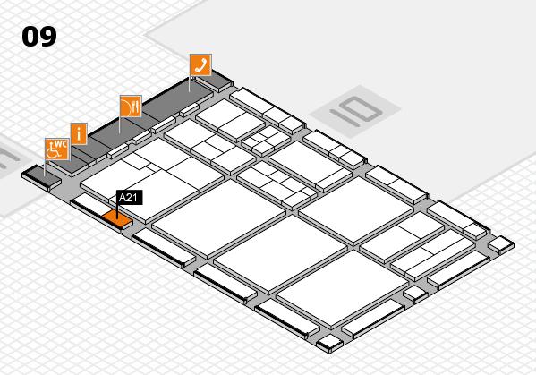 drupa 2016 hall map (Hall 9): stand A21