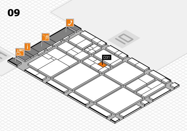 drupa 2016 hall map (Hall 9): stand D31
