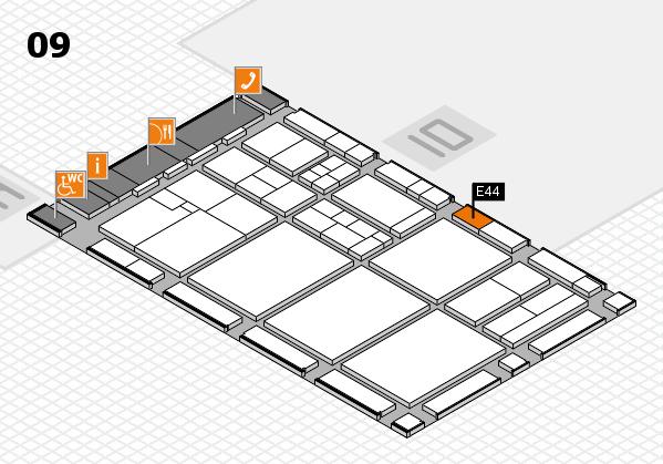 drupa 2016 Hallenplan (Halle 9): Stand E44