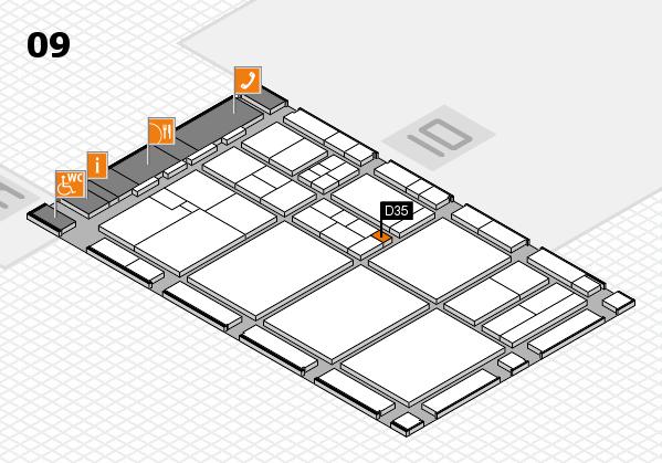 drupa 2016 hall map (Hall 9): stand D35