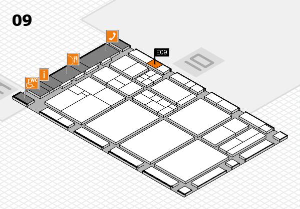 drupa 2016 hall map (Hall 9): stand E09