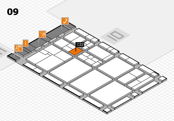 drupa 2016 hall map (Hall 9): stand C22