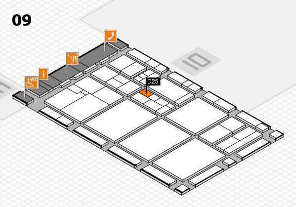 drupa 2016 hall map (Hall 9): stand D25