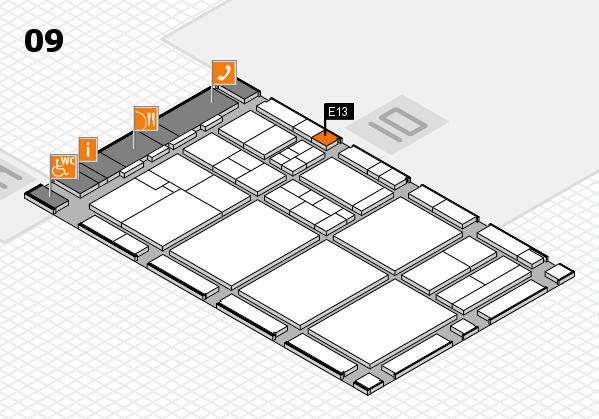 drupa 2016 hall map (Hall 9): stand E13