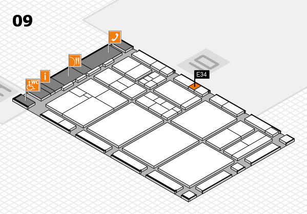 drupa 2016 Hallenplan (Halle 9): Stand E34