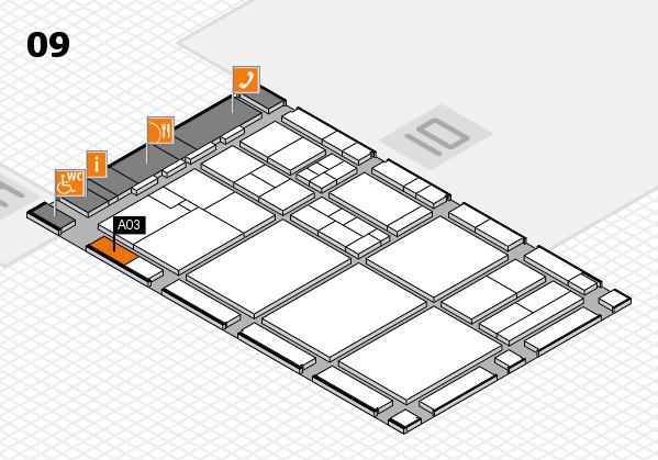 drupa 2016 Hallenplan (Halle 9): Stand A03