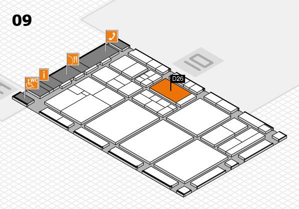 drupa 2016 hall map (Hall 9): stand D26