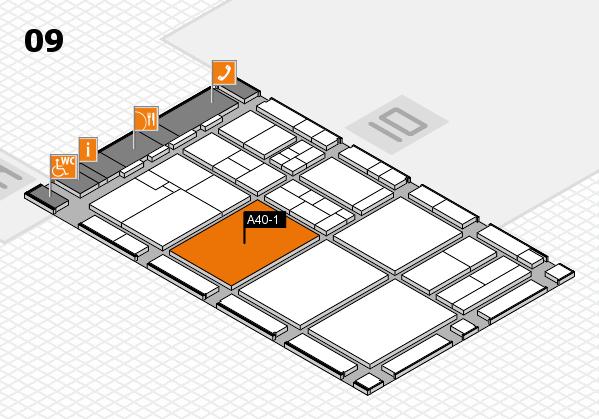 drupa 2016 Hallenplan (Halle 9): Stand A40-1