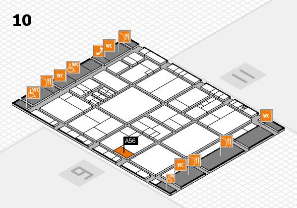 drupa 2016 hall map (Hall 10): stand A56
