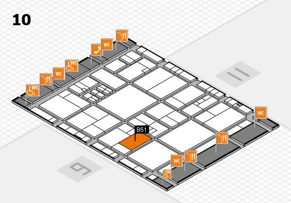 drupa 2016 hall map (Hall 10): stand B51