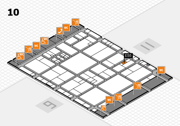 drupa 2016 Hallenplan (Halle 10): Stand E55