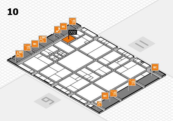 drupa 2016 hall map (Hall 10): stand D02