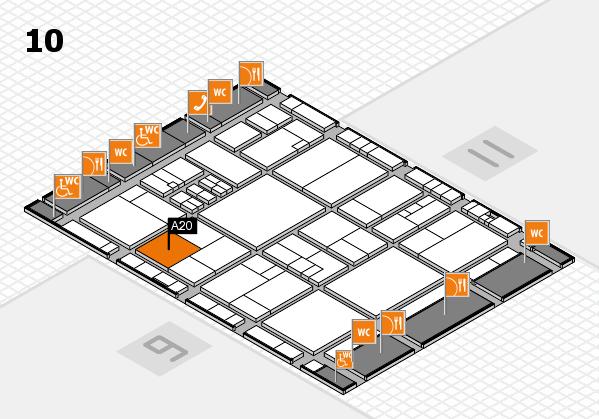 drupa 2016 hall map (Hall 10): stand A20