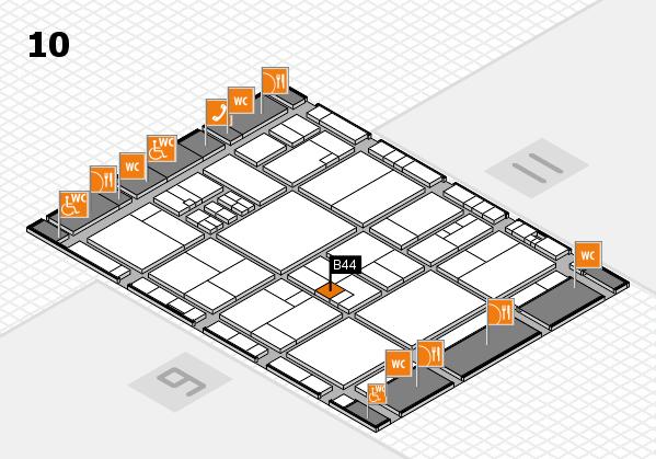 drupa 2016 hall map (Hall 10): stand B44