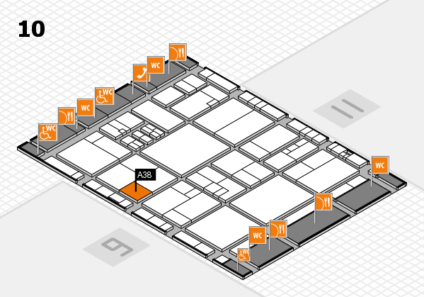 drupa 2016 hall map (Hall 10): stand A38
