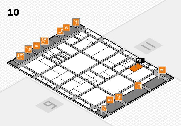 drupa 2016 hall map (Hall 10): stand E61