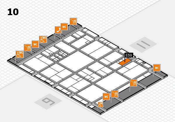 drupa 2016 hall map (Hall 10): stand E59