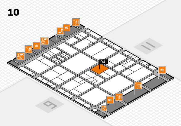 drupa 2016 Hallenplan (Halle 10): Stand D41