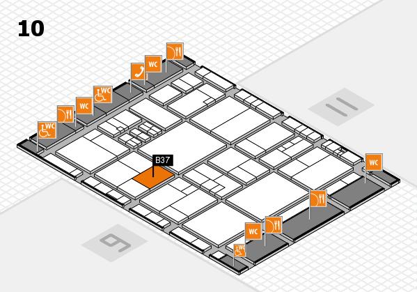 drupa 2016 hall map (Hall 10): stand B37