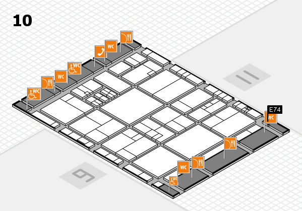 drupa 2016 hall map (Hall 10): stand E74