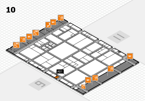 drupa 2016 Hallenplan (Halle 10): Stand A51