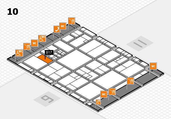drupa 2016 hall map (Hall 10): stand B17